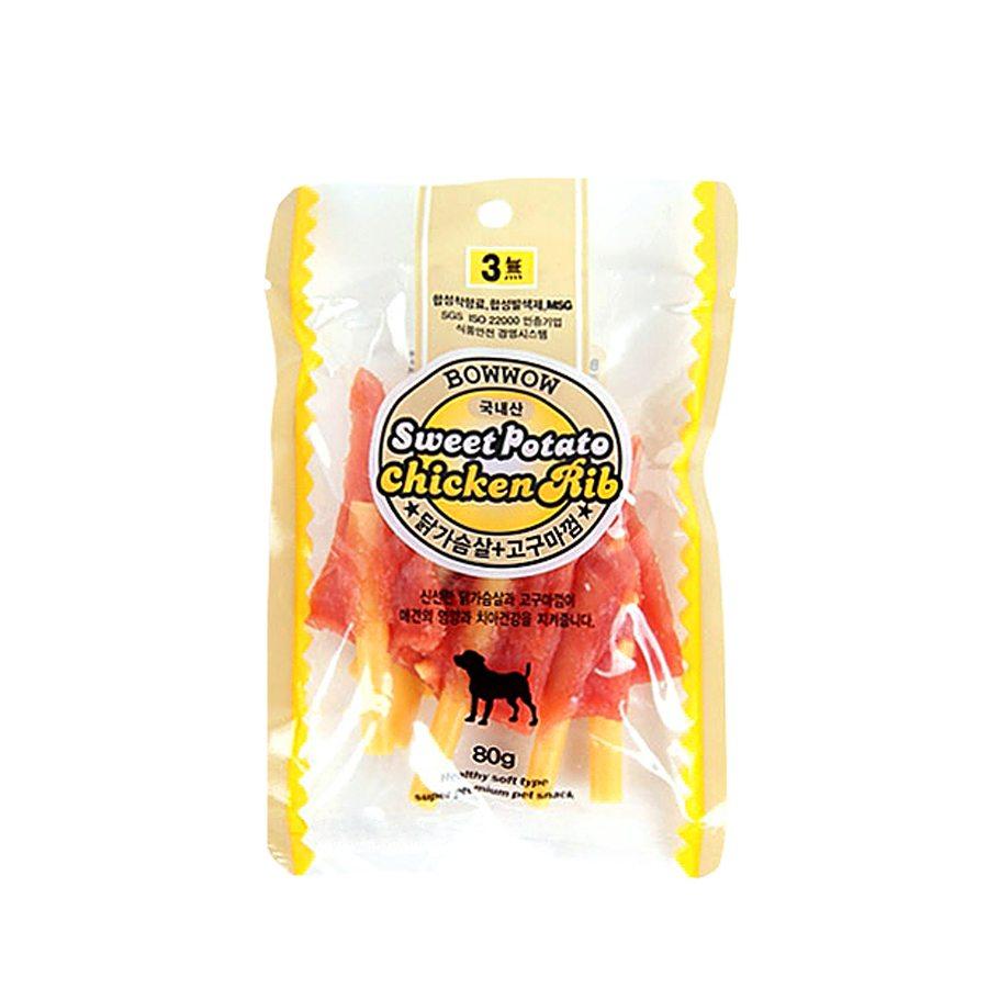 [바우와우] 닭가슴살+고구마 80g
