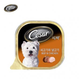 [시저] 쇠고기와닭고기(캔) 100g