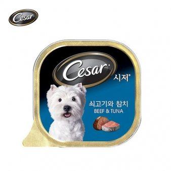 [시저] 쇠고기와참치(캔) 100g