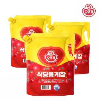 [오뚜기] 케찹(스파우트팩) 3.3kg*4 업소용식자재 대용량식자재