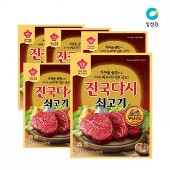[청정원] 쇠고기진국다시 2kg*6 업소용식자재 대용량식자재