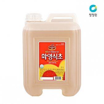 [청정원] 화영식초 15L 업소용식자재 대용량식자재