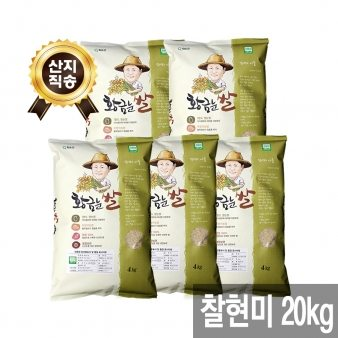 [산지직송 무료배송][황금눈쌀] 찰현미 20kg (4kg x 5)